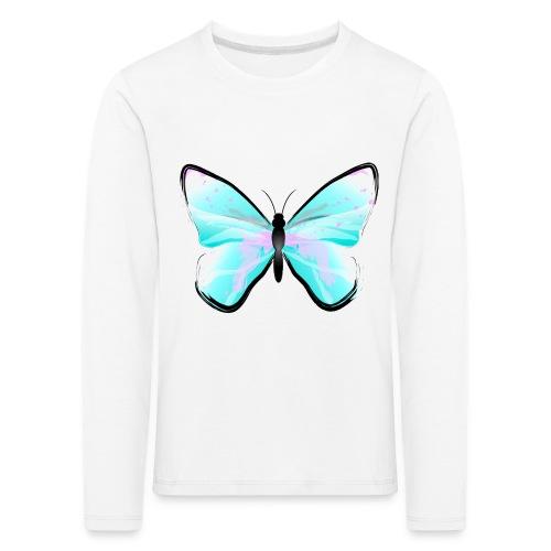 Blue Butterfly - Kinder Premium Langarmshirt