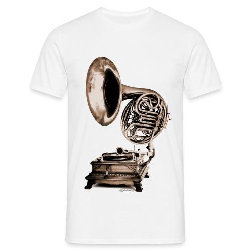 Grammo-Horn - Männer T-Shirt