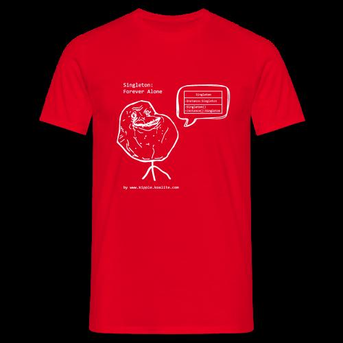 Singleton Design Pattern (White) - Men's T-Shirt
