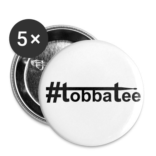 tobbatee's drumstick logo Pin - Buttons medium 32 mm