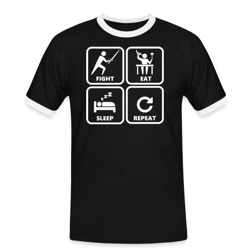 The Fencer Code (Herren) - Männer Kontrast-T-Shirt