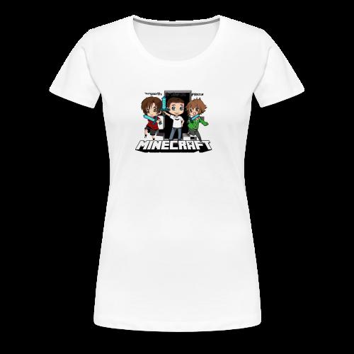 Trio Minecraft (F) - T-shirt Premium Femme