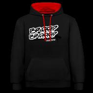 Pullover & Hoodies ~ Kontrast-Kapuzenpullover ~ Braaap Black and Red
