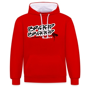 Braaap Red and White - Kontrast-Hoodie
