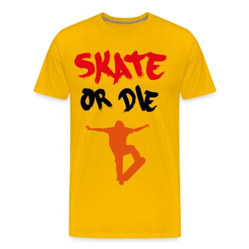 amazing diamond skater mens t shirt skater or die! - Men's Premium T-Shirt