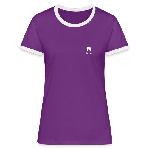 T-Shirt Imprimé dans le dos for Women   by Taga - T-shirt contrasté Femme