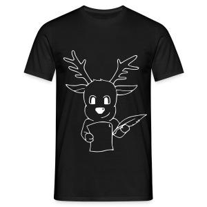 Motiv: Rentier mit Wunschzettel | Druck: weiß | verschiedene Farben - Männer T-Shirt