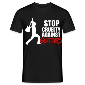 Stop Cruelty Against Guitars - Men's T-Shirt
