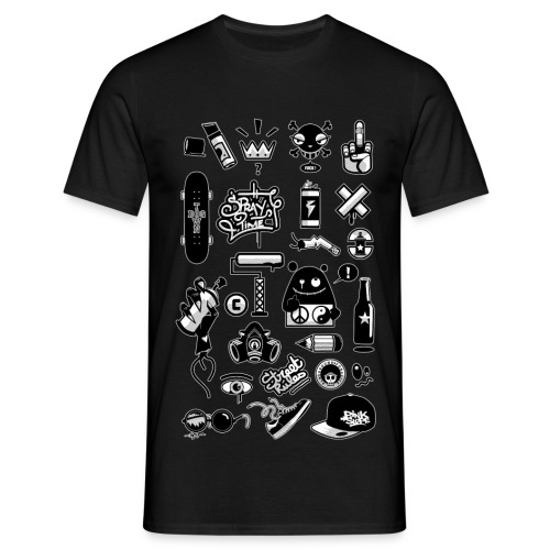 Graffiti Icons - T-shirt Homme