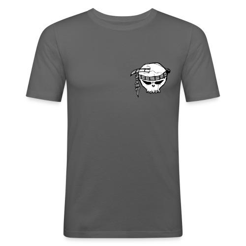 Mini Skull Grey - T-shirt près du corps Homme