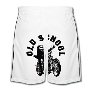 Old School - Pantalones cortos de fútbol hombre