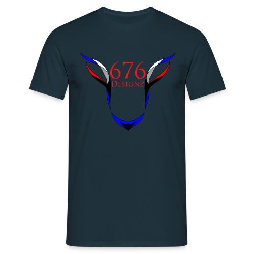 676 Skull [Skull] Dark Blue  - Männer T-Shirt