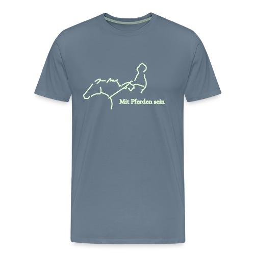 MPS-Reiter, Men´s Shirt ( Print: White Glowing In The Dark) - Männer Premium T-Shirt