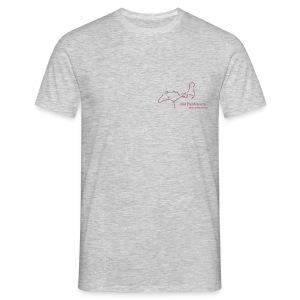 Front: Mit Pferden sein-Reiter small, Back: RU Font, Men´s Shirt ( Print: Crismonred) - Männer T-Shirt