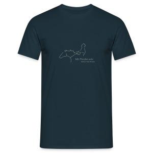 Mit Pferden sein-Reiter, Men´s Shirt ( Print:Grey) - Männer T-Shirt