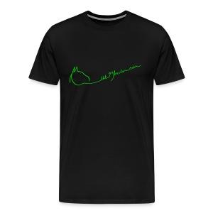 MPS Logoschriftzug Up the Hill Men´s Shirt ( Print: Neongreen) - Männer Premium T-Shirt