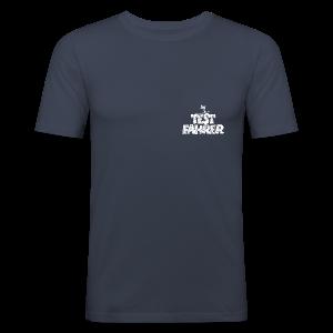 Testfahrer Skifahrer (Vintage/Weiß) Slim Fit T-Shirt - Männer Slim Fit T-Shirt