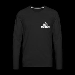 Testfahrer Skifahrer (Vintage/Weiß) Langarmshirt - Männer Premium Langarmshirt