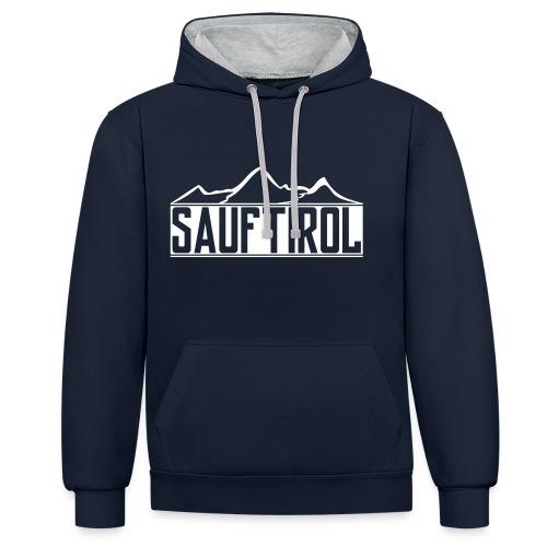 Sauftirol | Premium Hoodie Männer - Kontrast-Hoodie