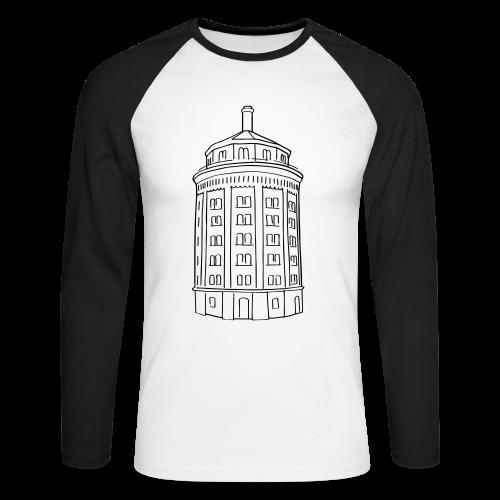 Wasserturm am Kollwitzplatz (Dicker Hermann) - Männer Baseballshirt langarm