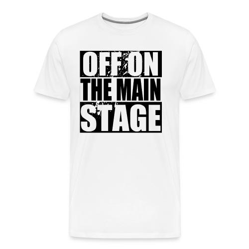 Mainstage T-Shirt (White - Mens) - Men's Premium T-Shirt