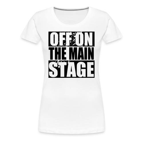Mainstage T-Shirt (White - Womens) - Women's Premium T-Shirt