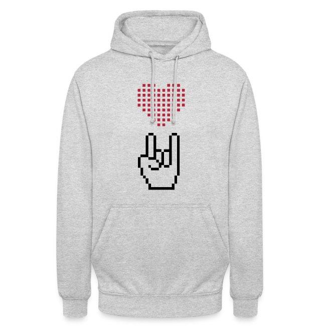 """Unisex Hoodie """"I love Rock"""""""