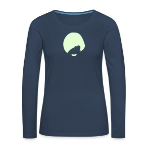 Female Emerald & Doreen Glow In The Dark White Logo Premium Longsleeve - Women's Premium Longsleeve Shirt