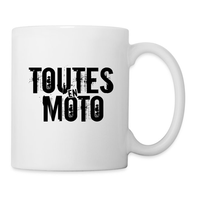 "Mug Blanche Logo Noir ""Conduisons nos vies"""