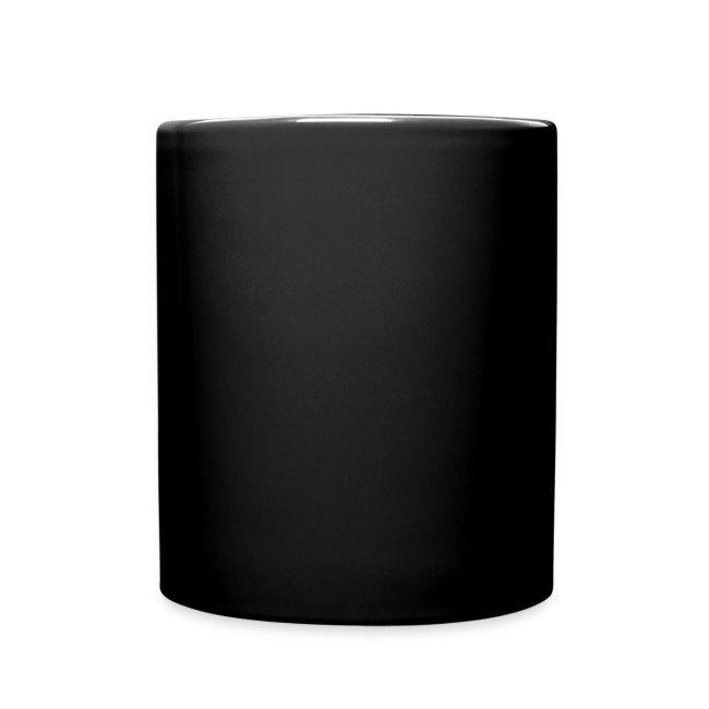"""Mug Noire Logo Blanc """"Conduisons nos vies"""""""