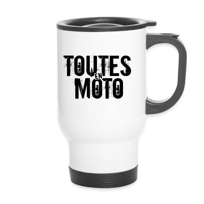 Mug Isotherme Blanche Logo Noir