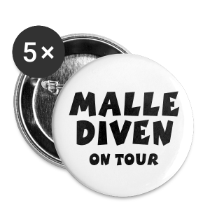 Malle Diven on Tour Anstecker (32mm) - Buttons mittel 32 mm