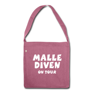 Malle Diven on Tour Recycling Tasche - Schultertasche aus Recycling-Material