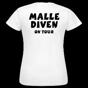 Malle Diven on Tour T-Shirt - Frauen T-Shirt