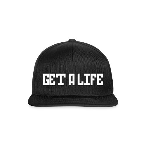 GET A LIFE Cap I adjustable (Logo white) - Snapback Cap