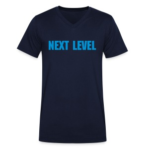 Male Sky Blue Next Level Von Herzen V-Neck T-Shirt - Men's Organic V-Neck T-Shirt by Stanley & Stella