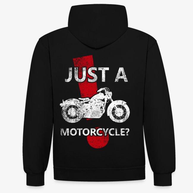 Just a Motorcycle sudadera bicolor
