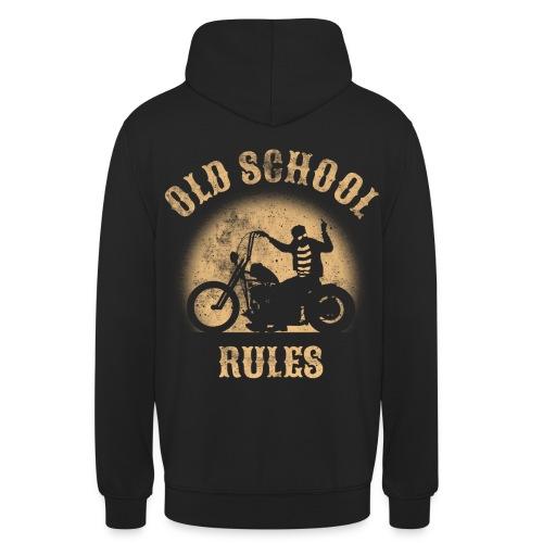 Old School Rules sudadera capucha - Sudadera con capucha unisex
