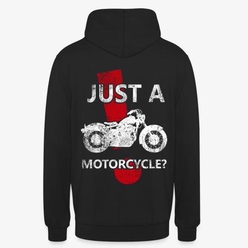 Just a Motorcycle sudadera capucha - Sudadera con capucha unisex