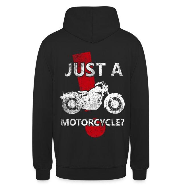 Just a Motorcycle sudadera capucha
