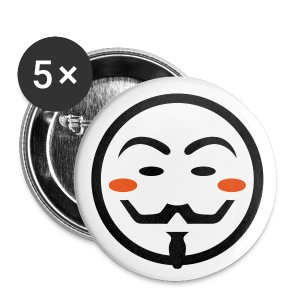 Anonymous Vendetta Mask - Buttons mittel 32 mm