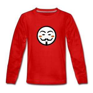 Anonymous Vendetta Mask - Teenager Premium Langarmshirt