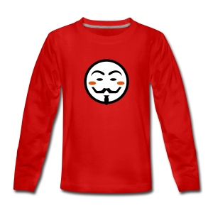 Anonymous Vendetta Mask - Teenager Premium Langarmshirt