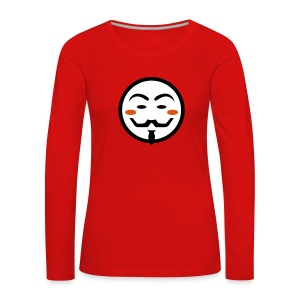 Anonymous Vendetta Mask - Frauen Premium Langarmshirt