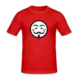 Anonymous Vendetta Mask - Männer Slim Fit T-Shirt