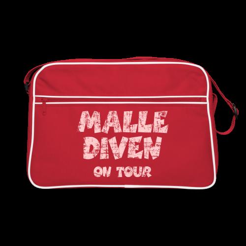 Malle Diven on Tour Vintage/Pink Sporttasche - Retro Tasche