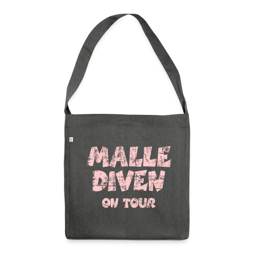 Malle Diven on Tour Vintage/Pink Recycling Tasche - Schultertasche aus Recycling-Material