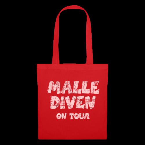 Malle Diven on Tour Vintage/Pink Stofftasche - Stoffbeutel