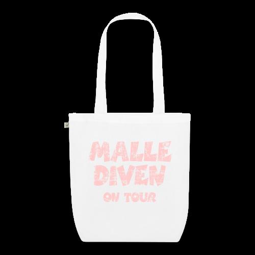 Malle Diven on Tour Vintage/Pink Bio Stofftasche - Bio-Stoffbeutel