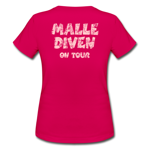 Malle Diven on Tour Vintage/Pink T-Shirt - Frauen T-Shirt